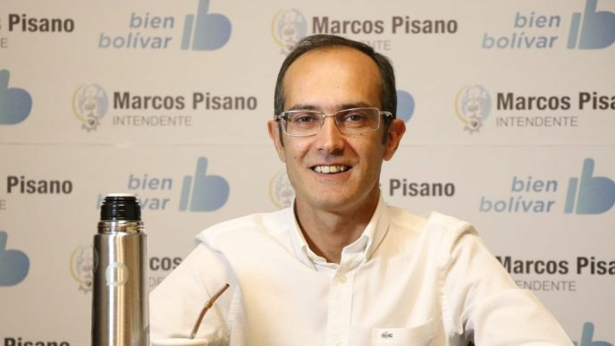 Marcos Pisano, intendente de Bolívar