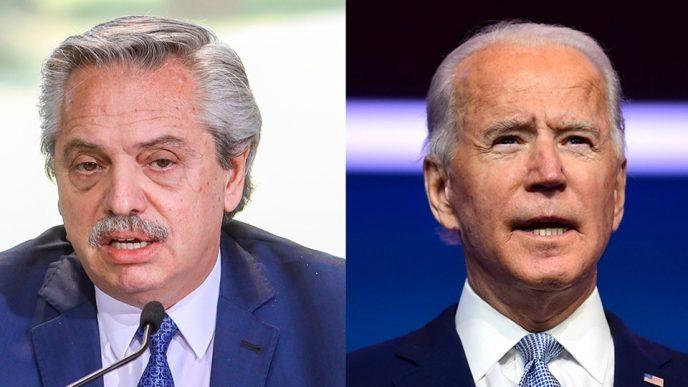 Alberto Fernández y  Joe Biden