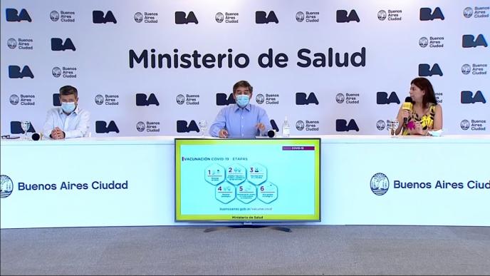 Conferencia de CABA sobre la situación epidemiológica.