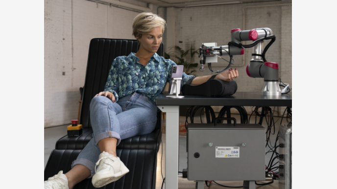 </a> La actriz holandesa que se animó a probar la tecnología.