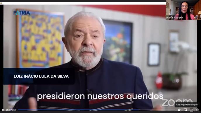 La firma de un acuerdo entre el Instituto Lula y el Instituto Patria.